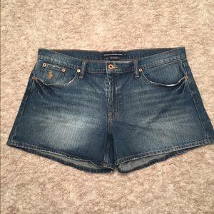 Ralph Lauren Sport Lightly Distressed Denim Shorts